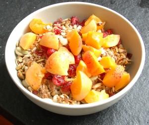 apricots on granola
