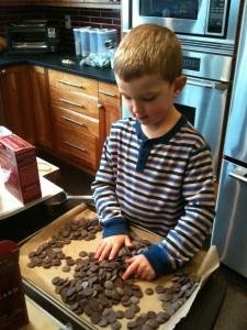 spreading chocolate