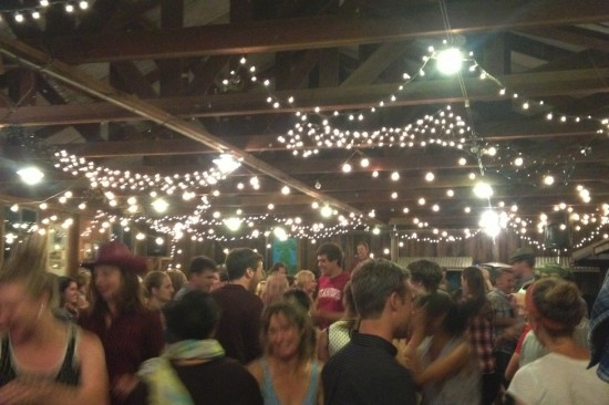 A barn full of square dancers