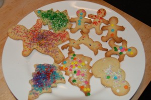 one messy, joyful cookie plate